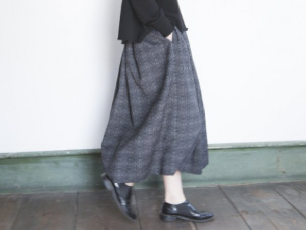 humoresque  gather skirt/jacquard