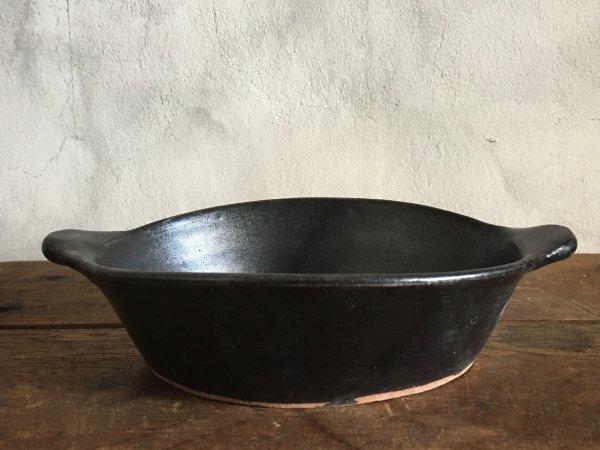八木橋 昇 耐熱楕円グラタン皿 黒