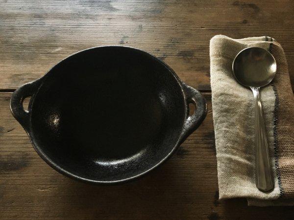 八木橋 昇 耐熱丸グラタン皿 黒