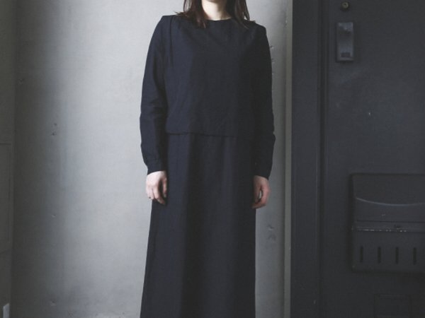 humoresque drape one piece/black