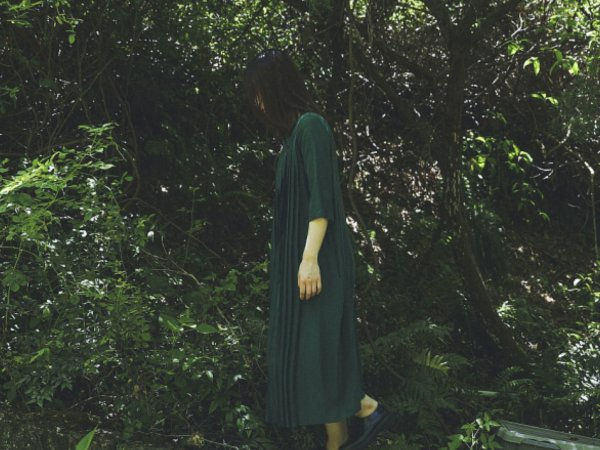 humoresque plated dress/green