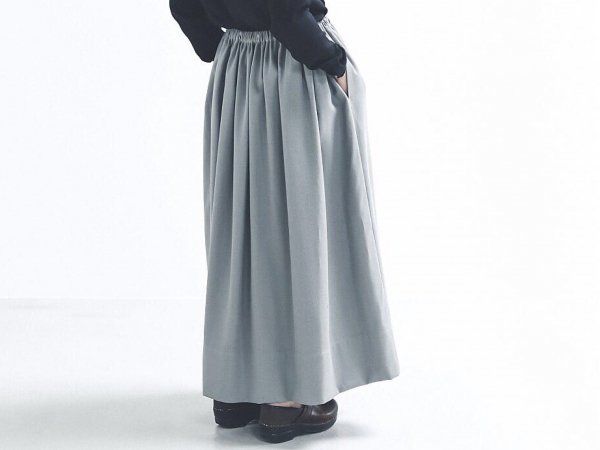humoresque gather skirt/gray twill