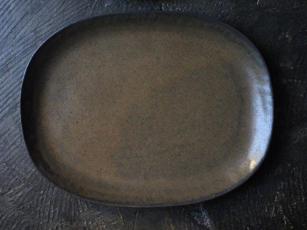 二川 修 楕円プレートL 茶