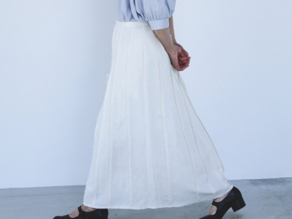 humoresque  piecing skirt  natural