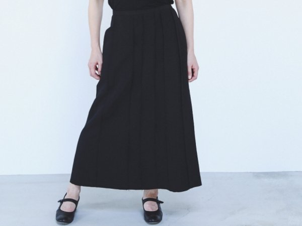 humoresque  piecing skirt  black