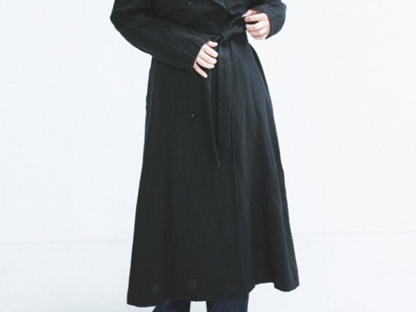 humoresque trench coat/black