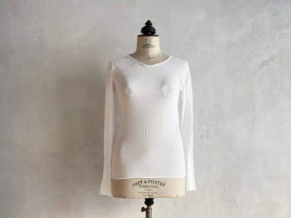 RIG UNDERWEAR 長袖Tシャツ ホワイト  *再入荷しました