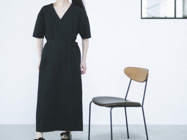 humoresque v-neck dress black