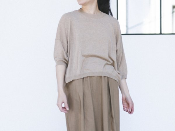 humoresque crewneck knit beige