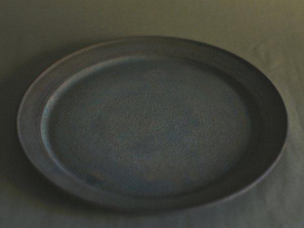 伊藤 環 錆銀彩8寸リムプレート