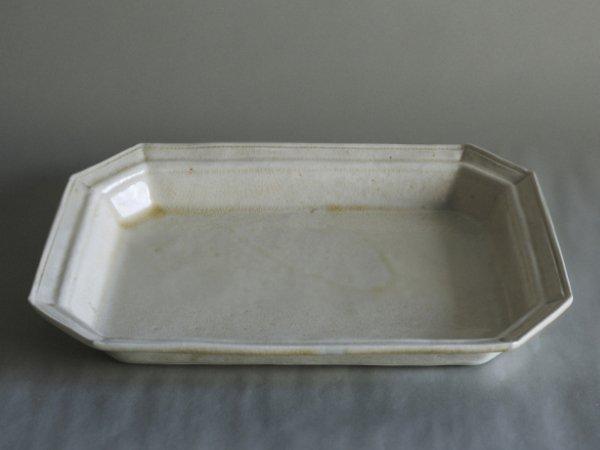 伊藤 環 1+0(イチタスゼロ) 白泥灰釉デコプレート 大