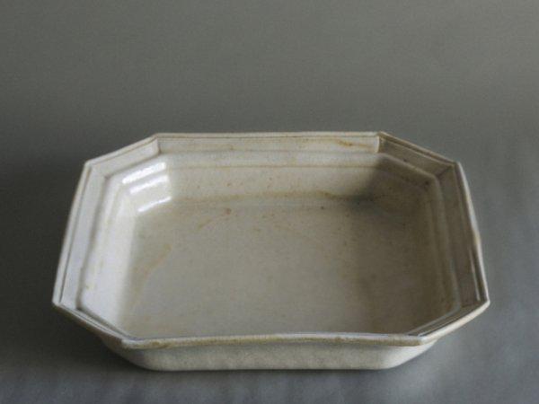 伊藤 環 1+0(イチタスゼロ) 白泥灰釉デコプレート 四角