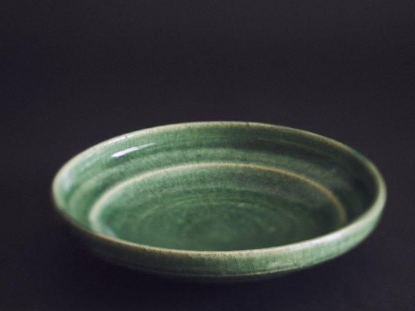 林 拓児 緑釉 浅鉢 5寸