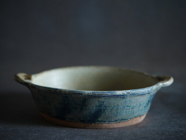 八木橋 昇 耐熱楕円グラタン皿 渋青