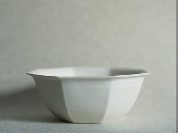 照井 壮 乳白釉八角鉢