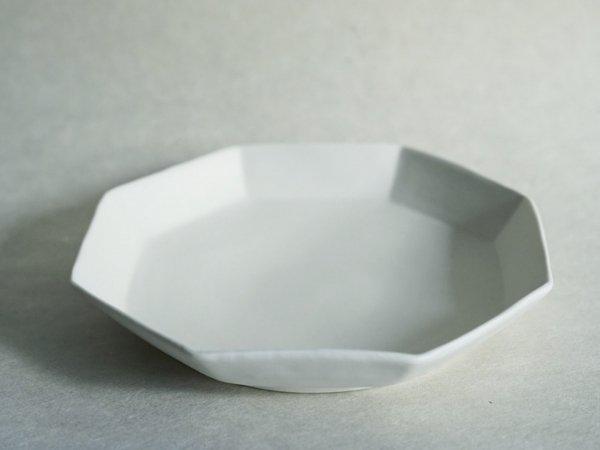 照井 壮 粗磁土八角皿