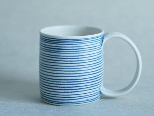 照井 壮 青線刻マグカップ
