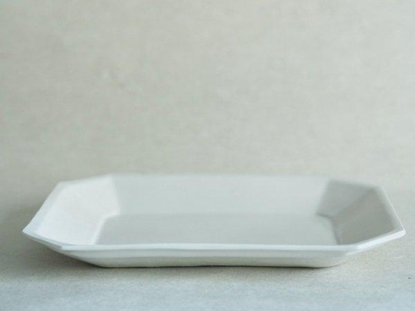 角田 淳 すみきり長方皿 大 乳白色
