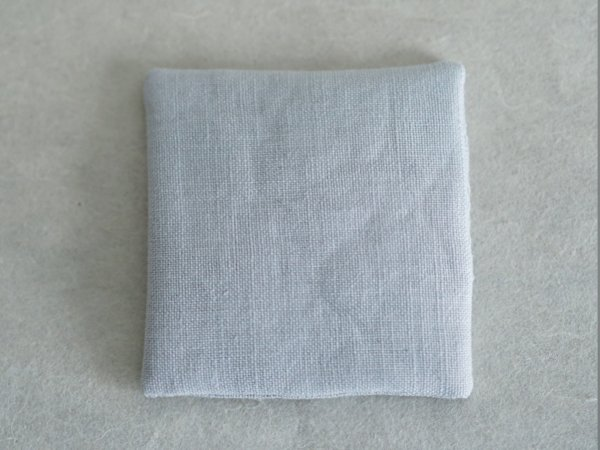 Linen coaster blue gray