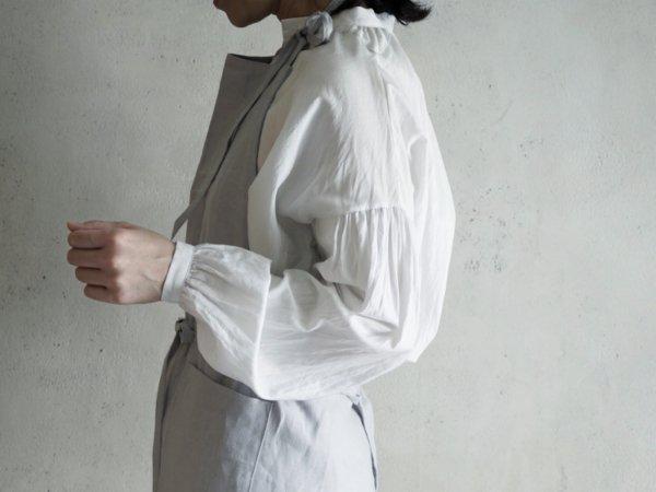 STROLL linen apron pale gray