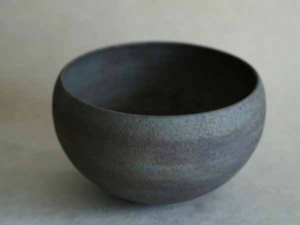 伊藤 環 錆銀彩 托鉢型鉢