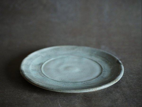 八木橋 昇 古粉引7寸リム皿