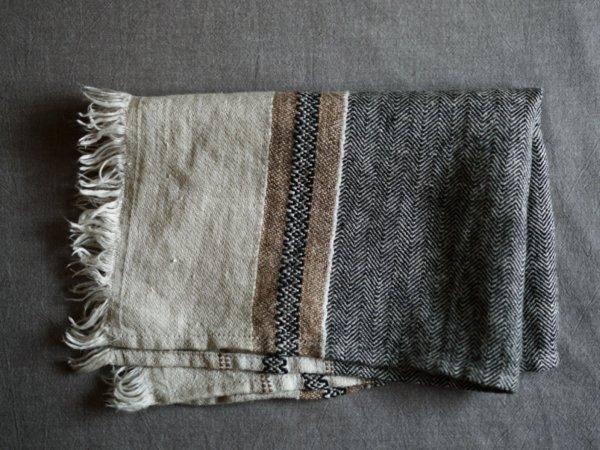LIBECO belgian towel/BEESWAX STRIPE