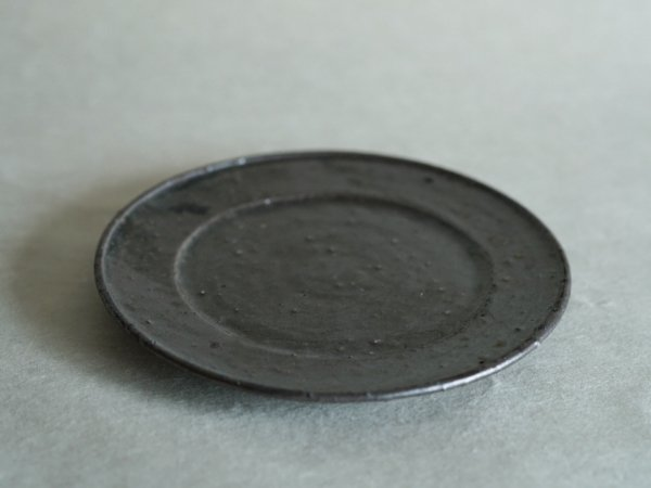 中西 申幸 7寸リム皿(リム広) 黒