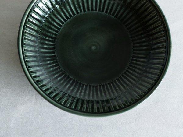 増渕 篤宥 青釉 レトロン深皿 8寸
