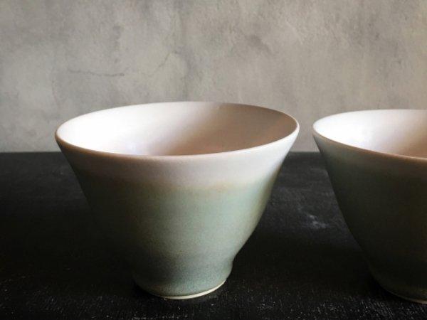 池田 優子 グラデーションカップ(緑×白)