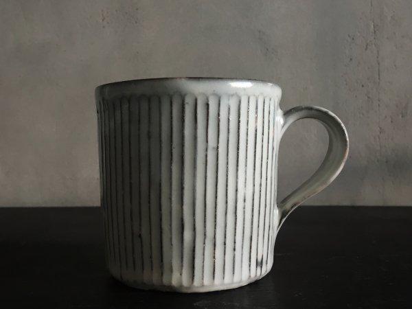 川口 武亮 粉引鎬マグカップ