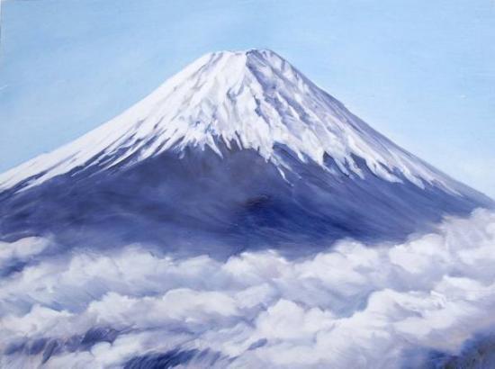 絵陶板 富士山