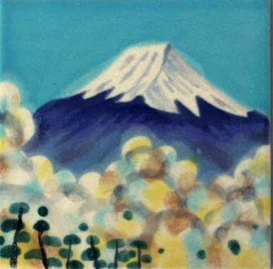 豪華手描き絵陶版 富士山