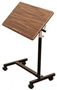 キャスター付きサイドテーブル 高さ調節 ウオールナット TX-06WAL