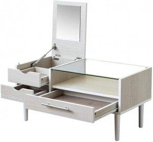 センターテーブル ドレッサー 80cm幅 ホワイト UTH-03WH