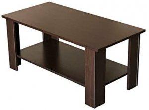 アウトレット センターテーブル 棚付き 90cm幅 ウオールナット CG-03WAL