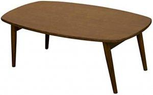 BONNY折りたたみローテーブル 90cm幅 ダークブラウン VTM-01DBR