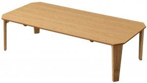 折りたたみテーブル115×60 Rosslea 長方形 ナチュラル UHR-115NA