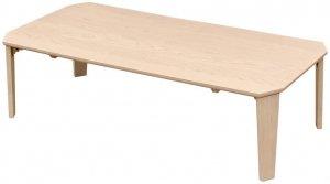 折りたたみテーブル115×60 Rosslea 長方形 ホワイトウォッシュ UHR-115WW