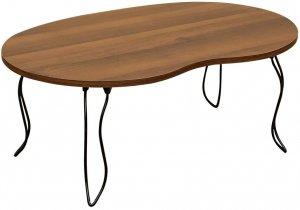 BIANCAビーンズテーブル 折りたたみテーブル ミニテーブル ウォールナット JK-10WAL