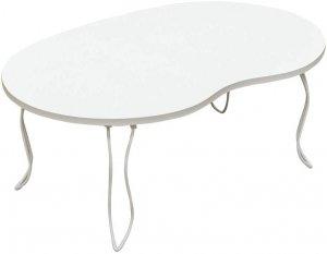 BIANCAビーンズテーブル 折りたたみテーブル ミニテーブル ホワイト JK-10WH
