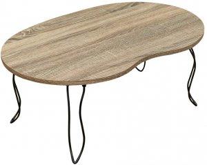 BIANCAビーンズテーブル 折りたたみテーブル ミニテーブル ダークブラウン JK-10DBR