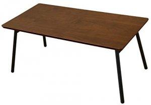 Soleil 折りたたみセンターテーブル 折れ脚 ウオールナット UTK-04WAL