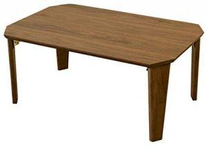 Rosslea ローテーブル折りたたみ  75cm幅 ウオールナットUHR-75WAL