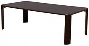 継脚フォールディングテーブル120cm幅 ウォールナット JK-P120WAL