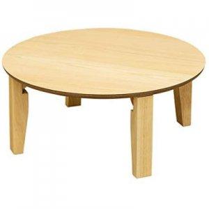 折りたたみテーブル ナチュラル 丸型65cm UHR-R65NA
