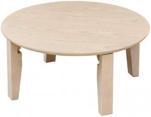 折りたたみテーブル ホワイトウォッシュ 丸型65cm UHR-R65WW