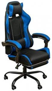 フルフラットメッシュレーシングチェア ゲーミングチェア ブルー HAY-01BL