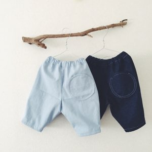 Denim Tuck Pants��