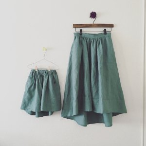 linen fish tale skirt*eucaly*Ladies